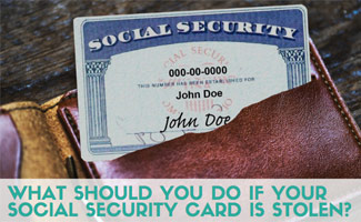 Social security card in wallet