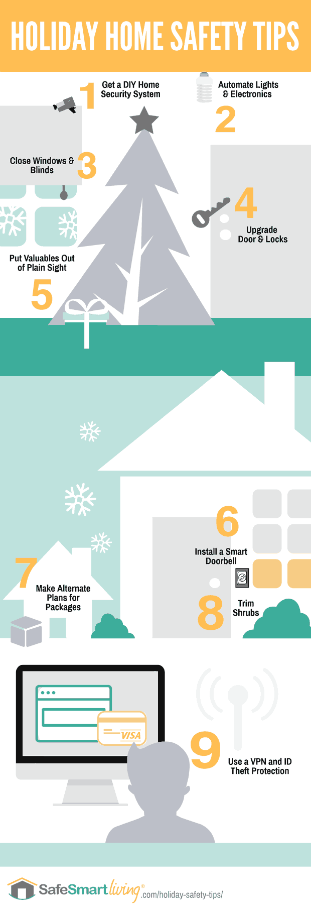 Infographic: Holiday Safety Tips for You & Your Home