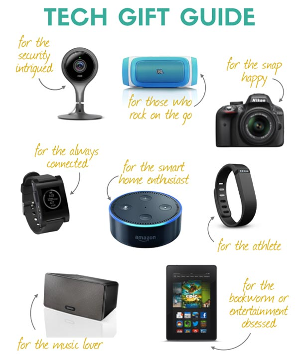 Tech gift Guide with text