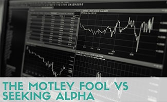 Investments on screen (caption: The Motley Fool vs Seeking Alpha)