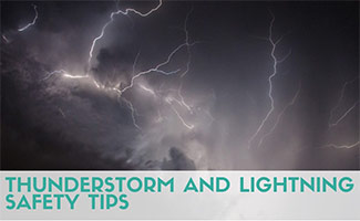 Lightening strike (Caption: Thunderstorm And Lightning Safety Tips)