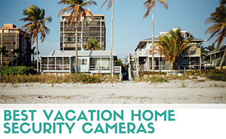 Row of beach homes (caption: Best Vacation Home Security Cameras)