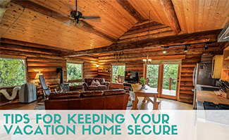 Inside log cabin (caption: Tips For Keeping Your Vacation Home Secure)