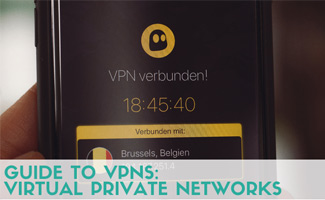 Phone with VPN on screen (caption: Guide to VPNs: virtual private networks)