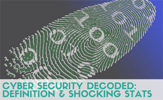 Fingerprint with numbers: Cyber Security Decoded: Definition & Shocking Stats