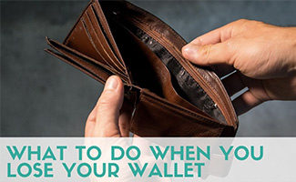 Man holding empty wallet (caption: What To Do When You Lose Your Wallet)