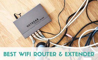 Router on floor (caption: Best Wifi Router and Extender)