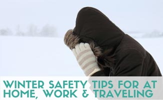 Girl bracing the snow with hoodie and gloves (caption: Winter Safety Tips For At Home, Work & Traveling)
